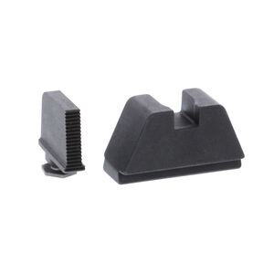 Ameriglo 2XL Tall Sight Set for GLOCK Black Serrated Front with Flat Black Rear