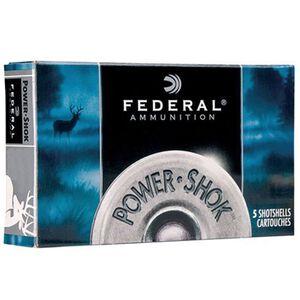 "Federal Power-Shok 12 Gauge Ammunition 5 Rounds 3""  Magnum Lead 00 Buck 15 Pellets F13100"