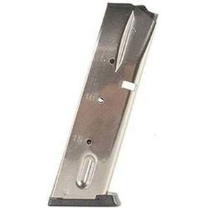 Mec-Gar Smith & Wesson 5900 Series/915/910/659 Magazine 9mm Luger 15 Round Capacity Steel Tube Polymer Floor Plate Nickel