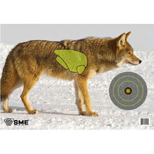 """SME Game Targets Coyote Highlighted Vital Area 16.5""""x24"""" 3 Pack"""