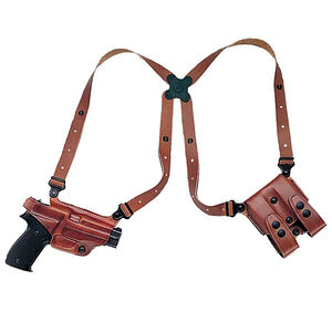 Galco Miami Classic Shoulder Holster System Glock 20, 21 and Others Right Hand Leather Tan MC228