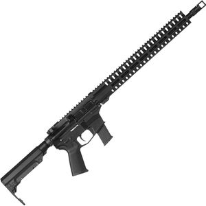 "CMMG Resolute 300 MkGs 9mm Luger AR-15 Semi Auto Rifle 16"" Barrel 33 Rounds Uses GLOCK Style Magazines RML15 M-LOK Handguard RipStock Collapsible Stock Graphite Black Finish"