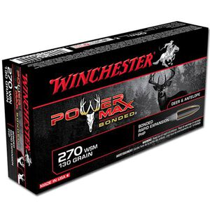 Winchester Power Max .270 Win Ammunition 20 Rounds, PHP, 130 Grains