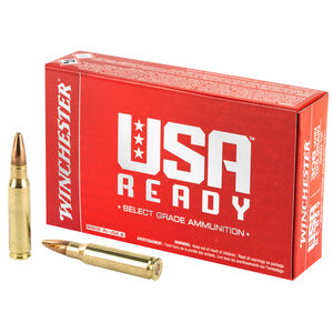 Winchester USA Ready .308 Winchester Ammunition 20 Rounds 168 Grain Open Tip 2680fps