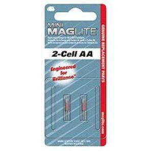 MagLite Mini MagLite Flashlight Replacement Lamp 2 Pack LM2A001