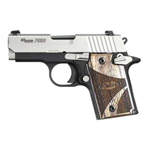 "SIG Sauer P938 Semi Auto Pistol 9mm Luger 3"" Barrel 6 Rounds Ambidextrous Controls Night Sights Two Tone"