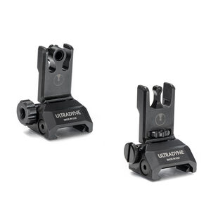 Ultradyne C2 Folding Front And Rear Sight Combo 12 MOA Aperture Post Black