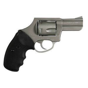 "Charter Arms Bulldog Revolver .44 Special 2.5"" Barrel Concealed Hammer 5 Rounds Black Rubber Grips Stainless Steel Finish"
