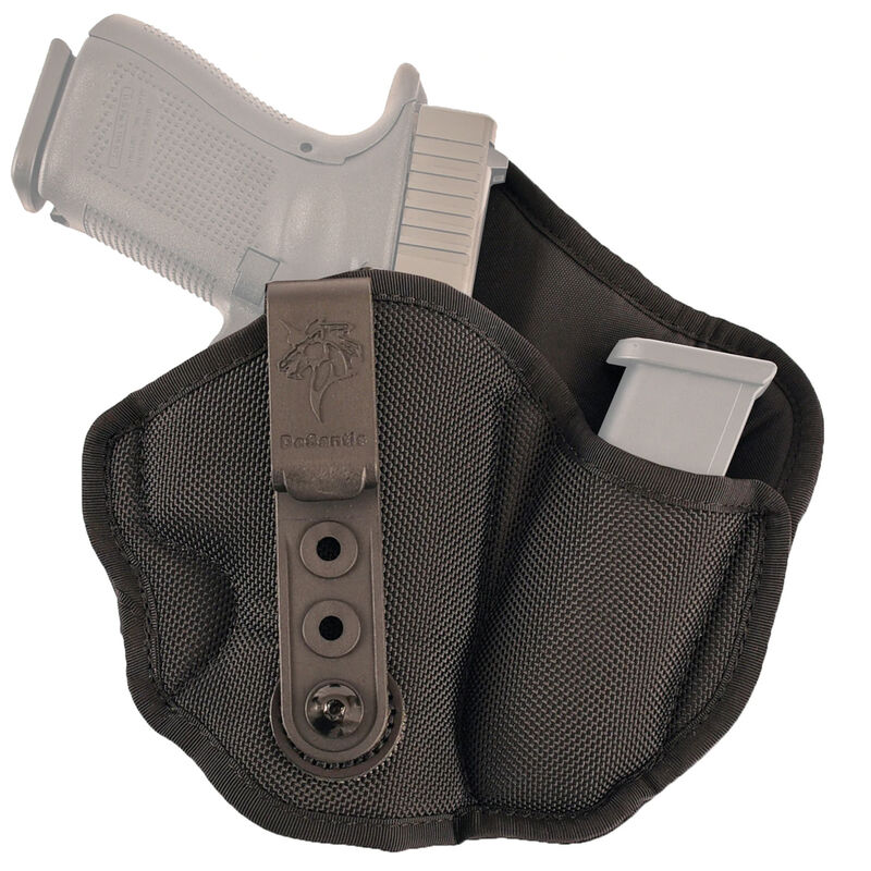 DeSantis Inner Piece 2 0 Holster IWB with Magazine Pouch for Colt Officer/  GLOCK 42/43/43X/ Kimber Ultra Carry and Similar Right Hand Nylon Black