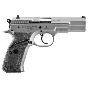 """SAR USA Model 2000 9mm Luger Semi Auto Pistol 4.5"""" Barrel 17 Rounds Forged Steel Frame Matte Stainless Steel Finish"""