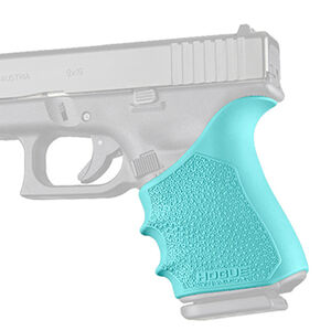 Hogue HandAll Beavertail Grip Sleeve Fits Glock 19/23/32/38 Gen 1-2 and 5 Aqua