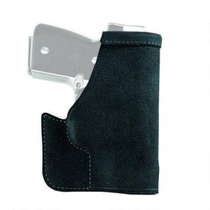 "Galco Pocket Protector Concealment Holster GLOCK 43/Honor Guard/M&P Shield/XDs 3.3""/Taurus 709 SLIM Leather Black PRO652B"