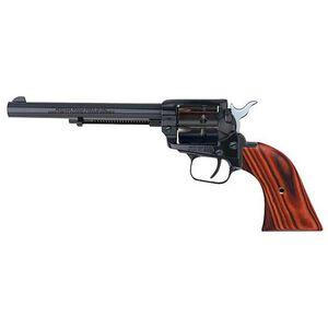 "Heritage Rough Rider Revolver .22 LR and .22 WMR 6.5"" Barrel Alloy Blue Cocobolo Grips 9 Round Fixed Sights 22999MB6"