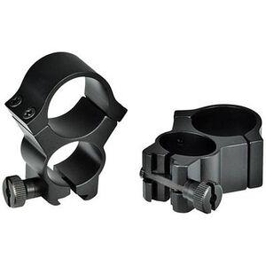 "Weaver 1"" See Thru Redfield Scope Rings 3/8"" Dovetail Aluminum Black"