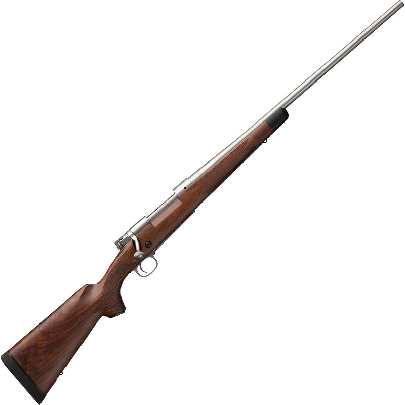 """Winchester Model 70 Super Grade Stainless .243 Winchester Bolt Action Rifle 22"""" Barrel 5 Rounds MOA Trigger Walnut Stock Matte Stainless Finish"""
