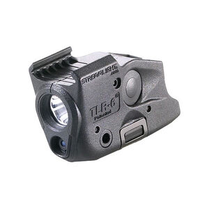 Streamlight TLR-6 GLOCK Rail Mount 100 Lumen LED and Red Laser CR-1/3N Polymer Black