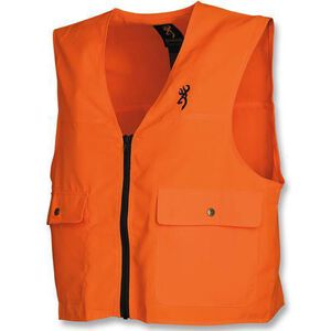 Browning Junior Safety Blaze Vest Junior Large Polyester Blaze Orange 3055000103
