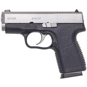"Kahr Arms CM45 Semi Auto Handgun .45 ACP 3.24"" Barrel 5 Rounds Black Polymer Frame Matte Stainless Slide CM4543"