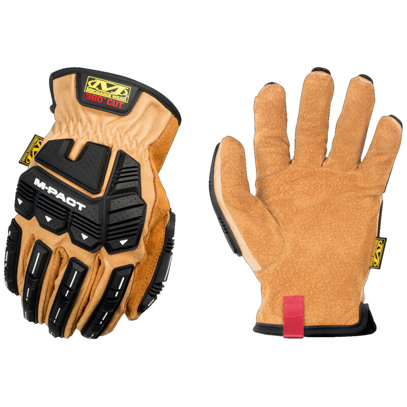 Mechanix Wear Durahide M-Pact Driver F9-360 Gloves Size Large Leather and Synthetic Black and Brown