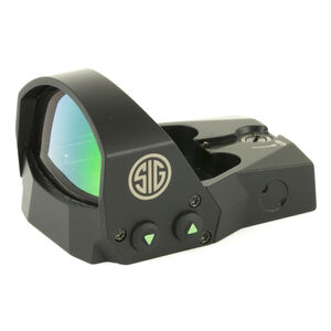 SIG Sauer Romeo1 1x30 Reflex Sight 6 MOA Red Dot Reticle 1 MOA Adjustments CR1632 Battery Sight Only Black