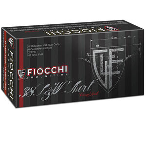 Fiocchi Classic .38 S&W Short Ammunition 50 Rounds Full Metal Jacket 145 Grains 38SWSHA