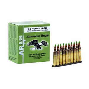 Federal M855 5.56 NATO Ammunition, 450 Rounds, FMJ, 62 Grains, Stripper Clips