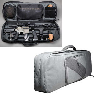 "Haley Strategic Partners INCOG Discreet Rifle Bag .25"" Closed Cell Foam YKK Zippers 1000D Cordura Nylon Disruptive Gray INCOG-RIF-GREY"