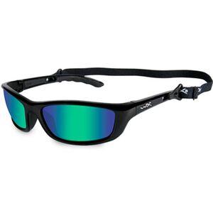 Wiley X P-17 Sunglasses Polarized Emerald Lens Gloss Black Frame P-17KA