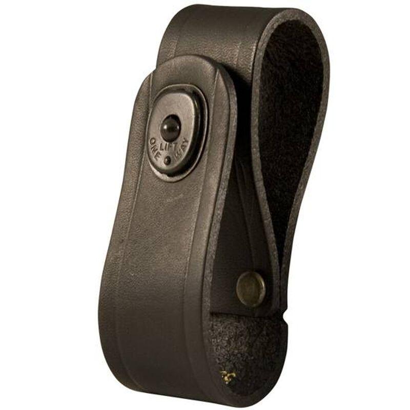Boston Leather 5519 Handcuff Strap Nickel Snap Leather Plain Finish Black 5519-1-N