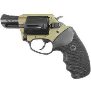 "Charter Arms Undercover Lite .38 Special +P Revolver 5 Rounds 2"" Barrel Rubber Grips Black Cylinder Earthborn Finish"