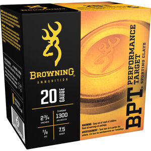Browning 20 Gauge Ammunition 25 Rounds 2-3/4 7/8 oz. Sporting #7.5 Shot