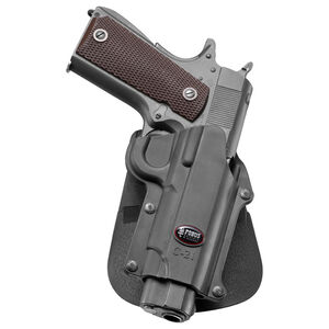 Fobus Holster 1911 Pistols Right Hand Roto-Paddle Attachment Polymer Black