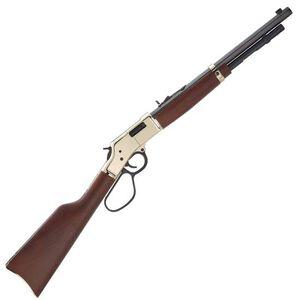 """Henry Big Boy Carbine Lever Action Rifle .41 Magnum 16.5"""" Octagon Barrel 7 Rounds Polished Hardened Brass Receiver Large Loop Lever American Walnut Stock Blued Barrel"""