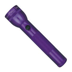 MagLite 2 D Cell handheld Flashlight 168 Lumens Incandescent Bulb Aluminum Purple