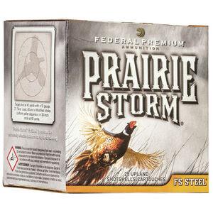 "Federal Prairie Storm FS Steel 12 Gauge Ammunition 3"" #4 FS Steel Shot 1-1/8 Ounce 1600 fps"