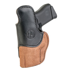 1791 Gunleather Rigid RCH-3 Multi-Fit IWB Concealment Holster for Pocket/Subcompact Semi Auto Pistols Right Hand Draw Leather Black/Brown