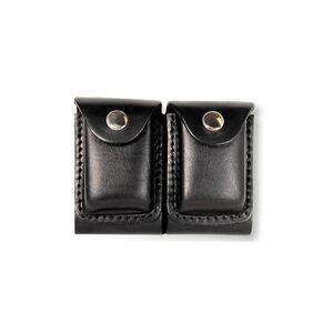 Boston Leather Double Slotted Dump Box Nickel Snap Plain Black