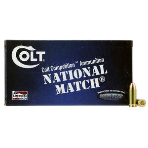 Colt Competition Match .38 Special Ammunition 50 Rounds 125 Grains