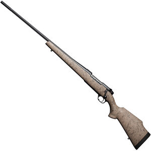 "Weatherby Mark V Ultra Light LH Bolt Action Rifle 6.5-300 Wby Mag 28"" Fluted Barrel Accubrake 3 Rounds Tan/Webbed Synthetic Stock Black Finish"