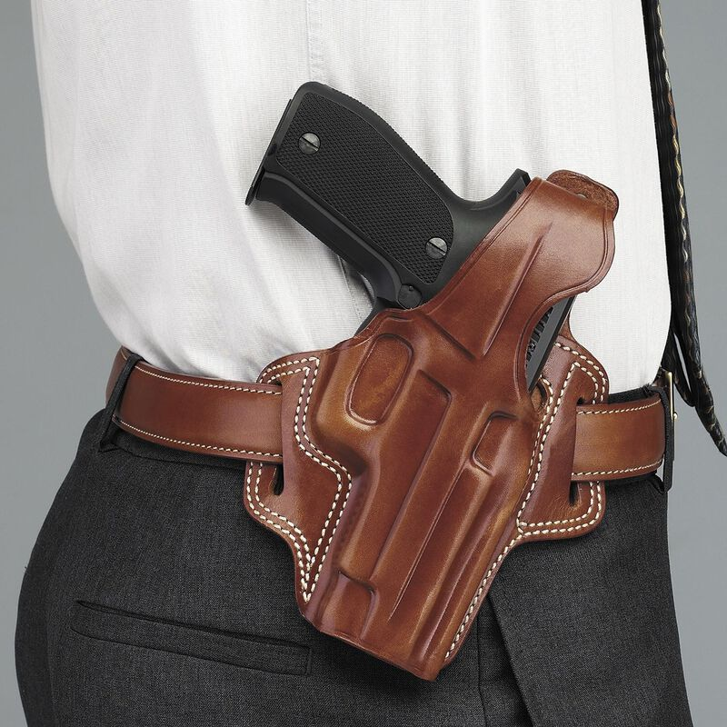 Galco F.L.E.T.C.H. High-Ride Belt Holster Glock 20 21 and 37 Right Hand Leather Black