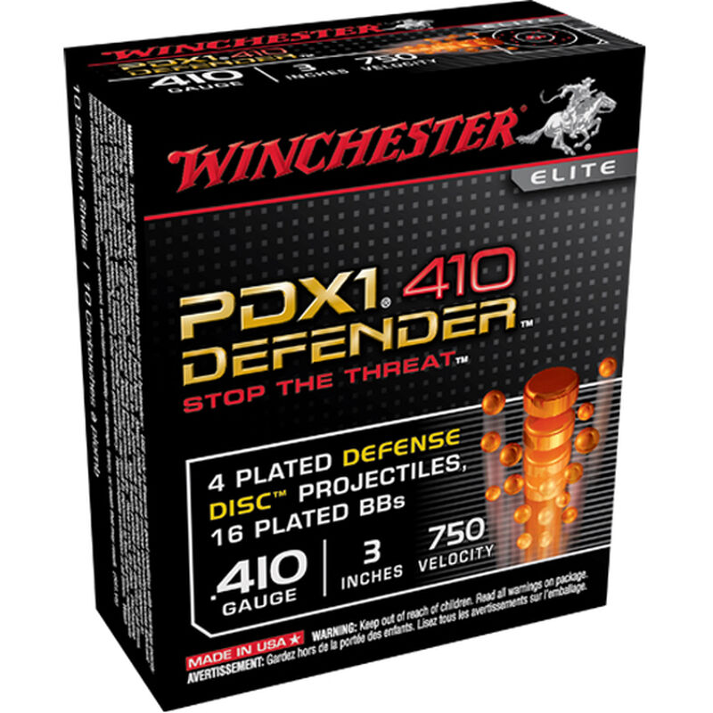 """Winchester USA PDX1 .410 3"""" 4 Disc/16 Plated BB 10 Rnd Box"""
