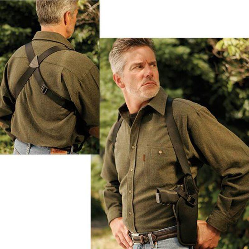 Uncle Mike's Sidekick Vertical Shoulder Holster Size 4 Medium/Large Revolvers Right Hand Nylon Black 83041