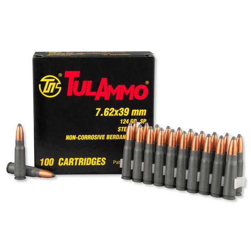 TulAmmo 7.62x39mm Ammunition 100 Rounds Steel SP 124 Grains UL076260