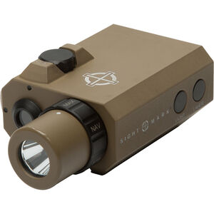 Sightmark LoPro Mini Flashlight Green Laser Combo, Aluminum, 300 Lumens, Dark Earth, CR123A