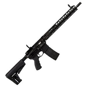 """Adams Arms P2 .300 BLK AR-15 Semi-Auto Rifle 16"""" Barrel 30 Rounds Flip Up Sights Collapsible Stock Black Finish"""