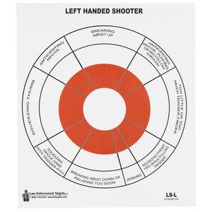 "Action Target Left Handed Handgun Feedback Target 10.5"" x 12"" Black and Red 100 Pack"