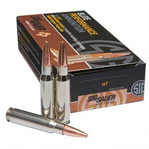 SIG Sauer HT Elite Hunting .300 Winchester Magnum Ammunition 20 Rounds 165 Grain Solid Copper Open Tip Match 3110fps