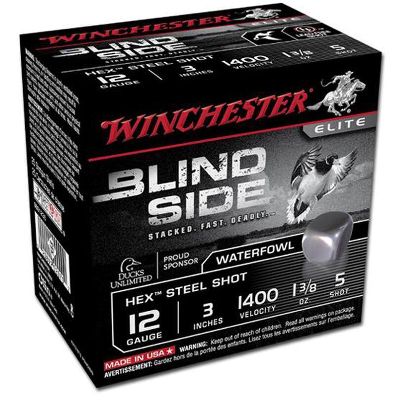 "Winchester Blind Side 12 Ga 3"" #5 Hex Steel 1.375oz 25 rds"