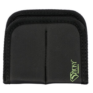Sticky Holsters Dual Mag Sleeve IWB/Pocket Full Size Magazine Pouch Synthetic Rubber Black