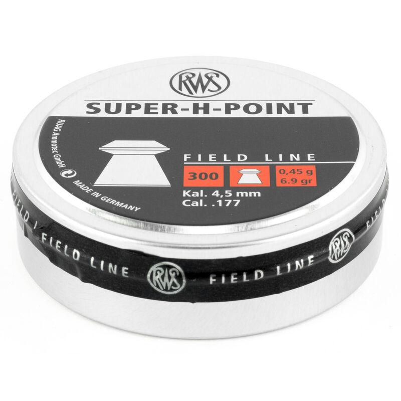 RWS Super H Point Field Line Air Gun Pellets  177 Caliber 6 9 Grain Super H  Point Lead Pellet 300 Round Tin